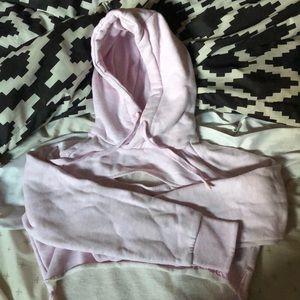 Gymshark pink cropped hoodie